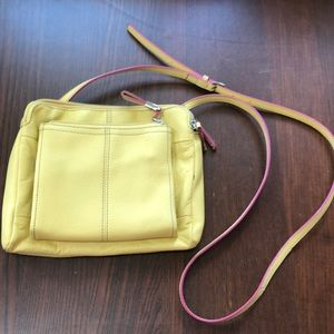 Yellow crossbody Tignanello purse